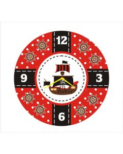 pirate round clock