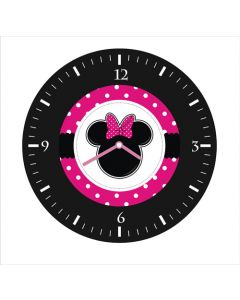 minnie mouse round clock