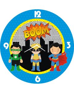 super hero round clock