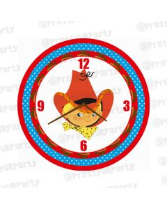 Personalised Little Cowboy Clock - Round