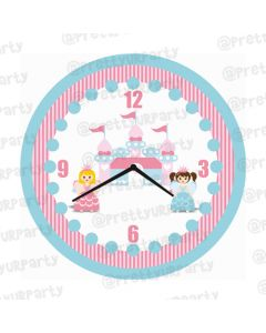 Personalised Fairy Princess Clock - Round