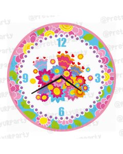 Personalised Flowers Clock - Round