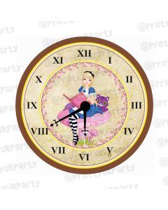 Personalised Alice in Wonderland Clock - Round