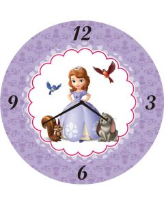 Sofia the first inspired Round Clock