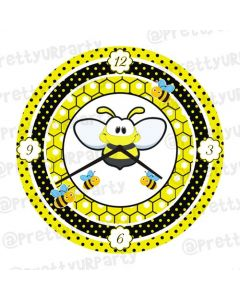 Bumble Bee Personalised Clocks