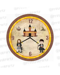 Personalised Harry Potter Clock - Round