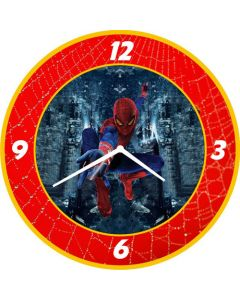 Spiderman round clock