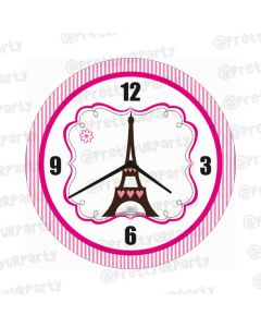 Personalised Paris Clock - Round