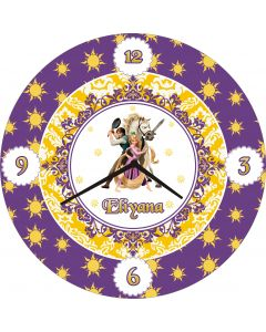 Tangled Round clock With Name