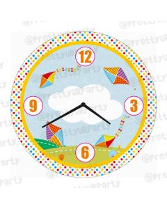 ersonalised Kites Clock - Round