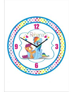 Personalised My Little Pony Clock - Round