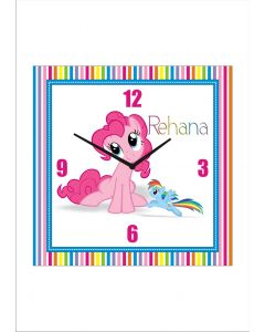 Personalised My Little Pony Clock - Square