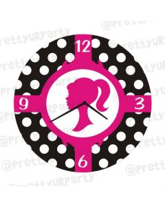 Personalised Barbie Clock - Round