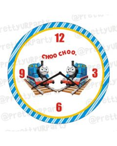 Personalised Thomas the Train Clock - Round