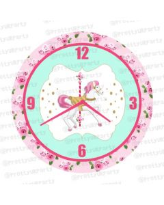 Personalised Carousal Clock - Round