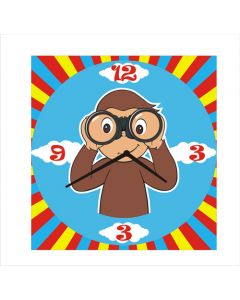 curious george square clock