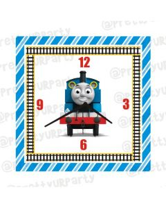 Personalised Thomas the Train Clock - Square