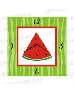 Personalised Watermelon Clock - Square