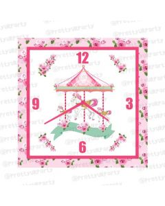 Personalised Carousel Clock - Square