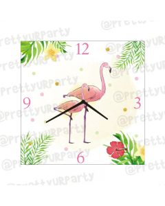 Personalised Flamingo Clock - Square