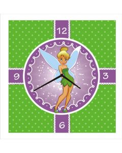 tinker bell square clock
