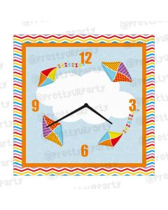 Personalised Kites Clock - Square