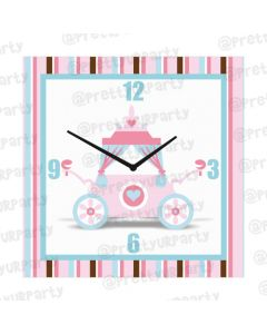 Personalised Fairy Princess Clock - Square