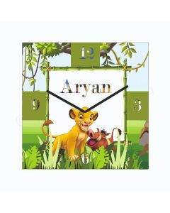 Personalized Lion King Clock - Square