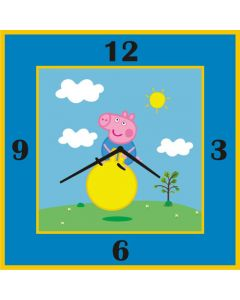 Peppa pig inspired square clock