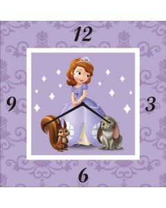 Sofia the first inspired clock