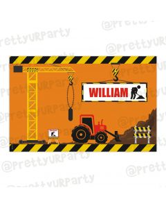 Construction personalised placemat