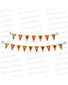 construction theme bunting