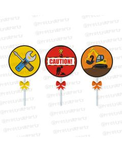 construction theme cupcake / food toppers