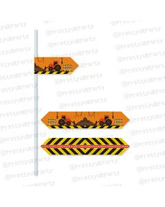 construction theme straws