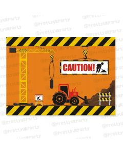 construction theme  table mats
