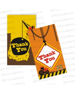 construction theme thankyou cards