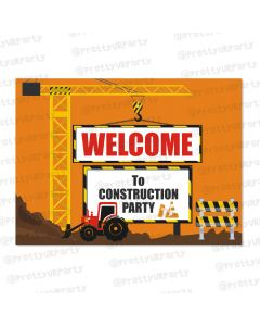 construction theme entrance banner / door sign