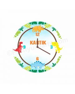 Personalised Dinosour Clock