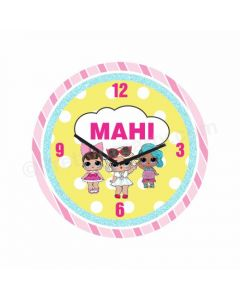 Personalized LOL Surprise Theme Clock - Round