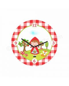 Personalized Little Red Riding Hood Theme Clock - Round
