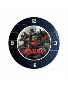Personalized Transformers Clock - Round