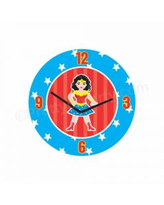 Personalized Wonder Woman Clock - Round