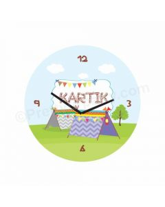 Personalized Camping Clock - Round