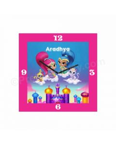 Personalized Shimmer and Shine Clock - Square