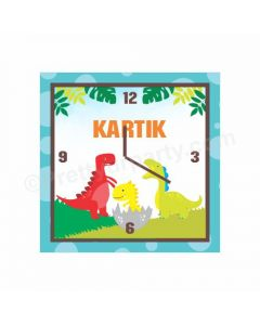 Personalised Dinosour Clocks