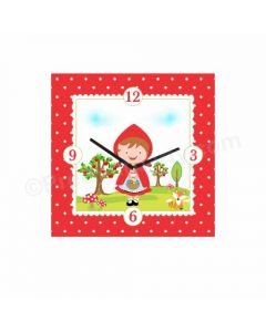 Personalized Little Red Riding Hood Clock - Square
