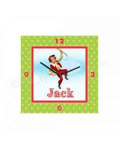 Personalized Jack & The Beanstalk Clock - Square