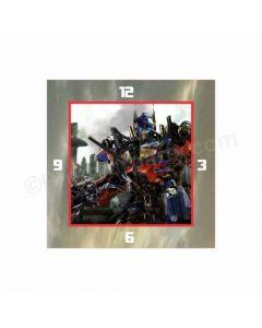 Personalized Transformers Clock - Square