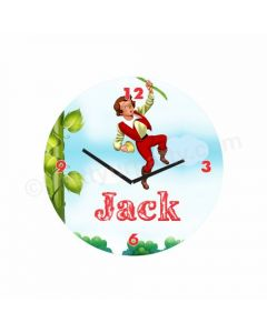 Personalized Jack & The Beanstalk Clock - Round