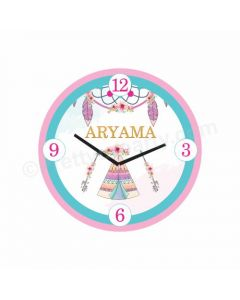 Personalized Boho Clock - Round